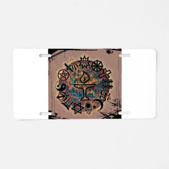 Unitarian Universalist 27 M Aluminum License Plate