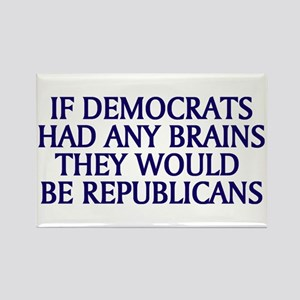 Democrats No Brains Rectangle Magnet