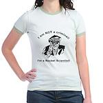 Not a criminal, a rocket scie Jr. Ringer T-Shirt