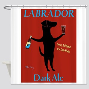 Labrador Dark Ale Shower Curtain