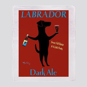 Labrador Dark Ale Throw Blanket