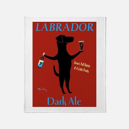 Labrador Dark Ale Throw Blanket