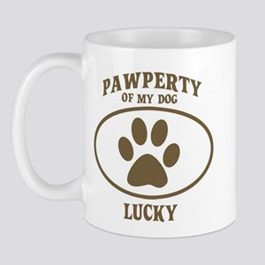 Pawperty of LUCKY Mug