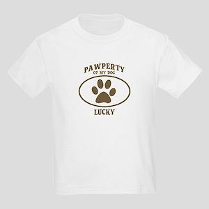 Pawperty of LUCKY Kids Light T-Shirt