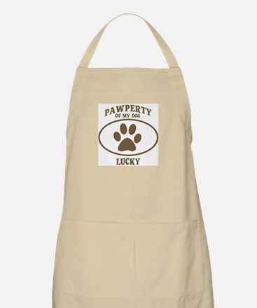 Pawperty of LUCKY BBQ Apron