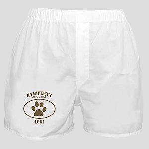 Pawperty of LOKI Boxer Shorts