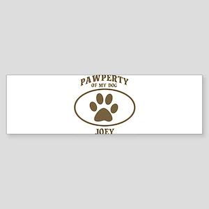 Pawperty of JOEY Bumper Sticker