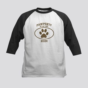 Pawperty of HEIDI Kids Baseball Jersey