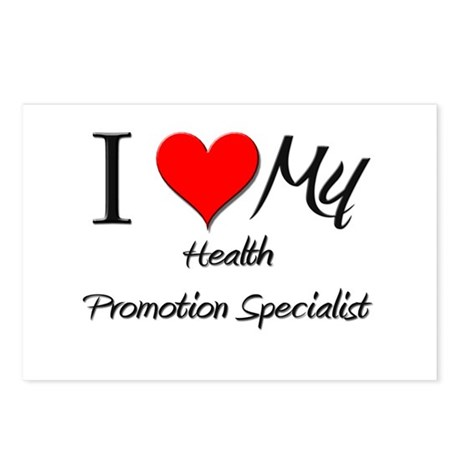 I Heart My Health Promotion Specialist Postcards (