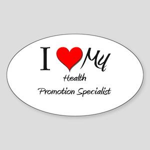I Heart My Health Promotion Specialist Sticker (Ov
