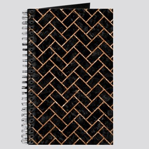 BRICK2 BLACK MARBLE & COPPER GLITTER (R) Journal
