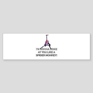 Talladega Nights - Spider Monkey Bumper Sticker