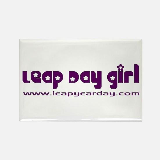 Leap Day Girl Rectangle Magnet