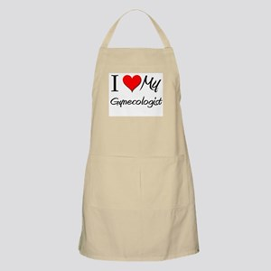 I Heart My Gynecologist BBQ Apron