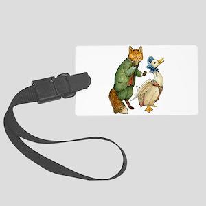 Mr. Whiskers and Jemima Puddledu Large Luggage Tag