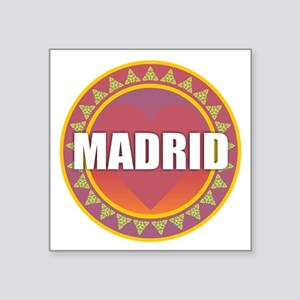 Madrid Sun Heart Sticker