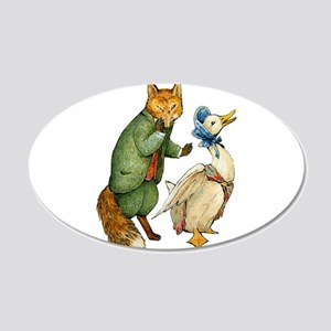 Mr. Whiskers and Jemima Pudd 20x12 Oval Wall Decal