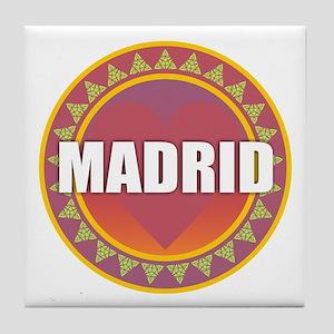 Madrid Sun Heart Tile Coaster