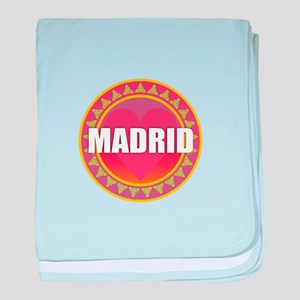 Madrid Sun Heart baby blanket