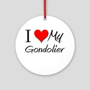 I Heart My Gondolier Ornament (Round)