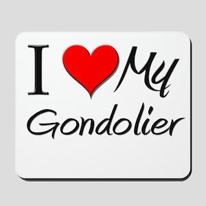 I Heart My Gondolier Mousepad