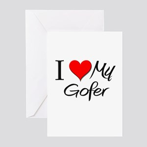 I Heart My Gofer Greeting Cards (Pk of 10)