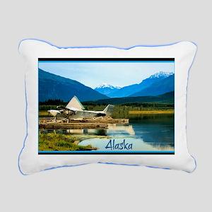 Alaskan float plane park Rectangular Canvas Pillow