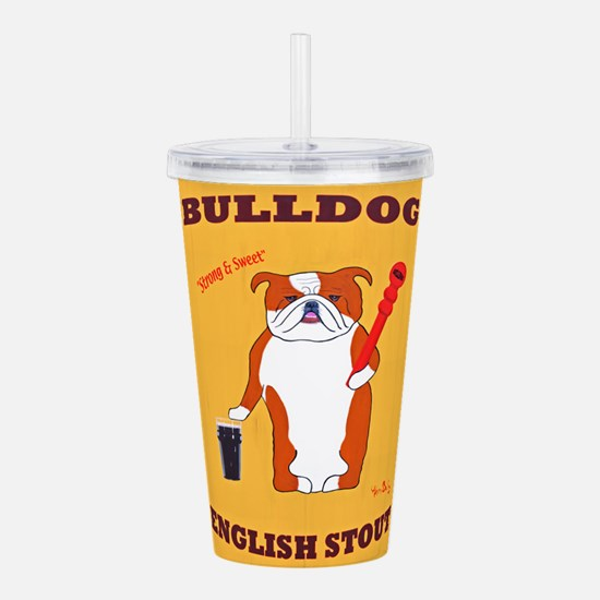 Bulldog English Stout Acrylic Double-wall Tumbler
