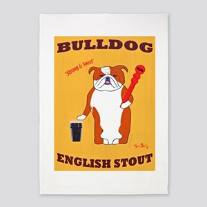 Bulldog English Stout 5'x7'Area Rug