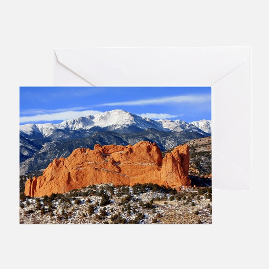 Pikes Peak, Kissing Camels Greeting Card