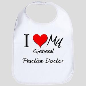 I Heart My General Practice Doctor Bib