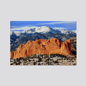 Pikes Peak, Kissing Camels Rectangle Magnet