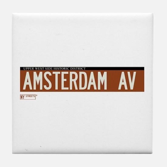 Amsterdam Avenue in NY Tile Coaster