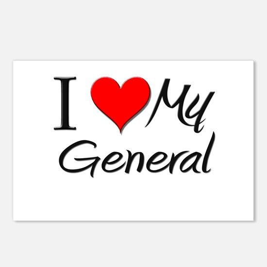 I Heart My General Postcards (Package of 8)