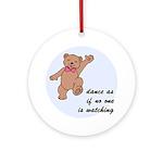 Dancing Bear Ornament (Round)