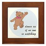 Dancing Bear Framed Tile