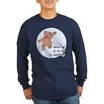 Dancing Bear Long Sleeve Dark T-Shirt