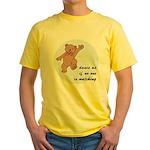 Dancing Bear Yellow T-Shirt