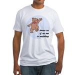 Dancing Bear Fitted T-Shirt