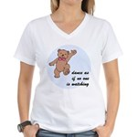 Dancing Bear Women's V-Neck T-Shirt