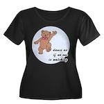 Dancing Bear Women's Plus Size Scoop Neck Dark T-S