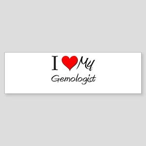 I Heart My Gemologist Bumper Sticker