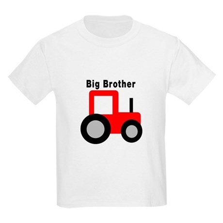 Big Brother Red Tractor Kids Light T-Shirt