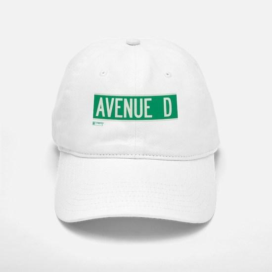 Avenue D in NY Baseball Baseball Cap