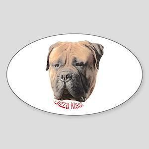 Bullmastiff Oval Sticker