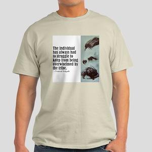 """Nietzsche """"The Individual"""" Light T-Shirt"""