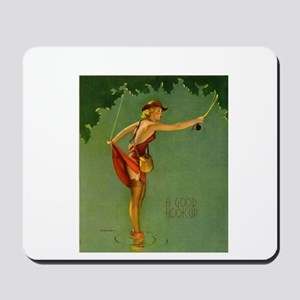 Vintage Fly Fishing Mousepad