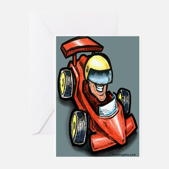 Funny Go kart racing Greeting Cards (Pk of 10)