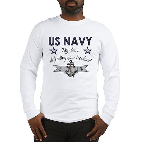 NAVY Son defending freedom Long Sleeve T-Shirt