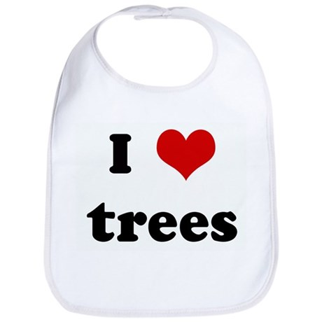 I Love trees Bib